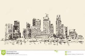 philadelphia skyline hand drawn sketch vector stock vector image