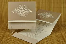 Design Patterns For Invitation Cards Designs For Wedding Invitation Cards Rectangle Landscape Beige