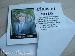 how to make graduation invitations diy graduation invitations hoosier