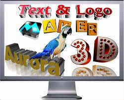 aurora 3d text logo maker 16 01 07 full indir full program indir