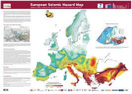 earthquake hazard map european seismic hazard map ecoclimax