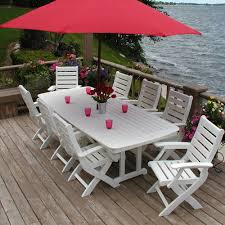 Patio Furniture Dining Sets With Umbrella - polywood nautical 44 inch by 96 inch dining table nct4496