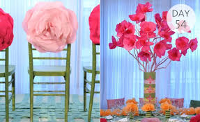 diy tissue paper flower centerpieces but with gold spray painted