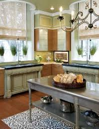 Vintage Kitchen Decorating Ideas Dazzling Square Butcher Block Island Shelves And L Shape