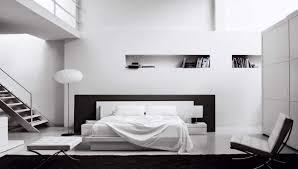 Minimalist Bed Minimalist Bedroom Bedroom Monochrome Minimalist Bedroom With