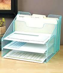 Upright Desk Organizer Upright Desk Organizer Blue Mesh Desktop File Organizer W 5
