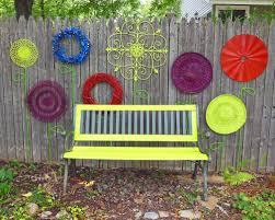 make recycled garden fence flower folk art display shawna coronado