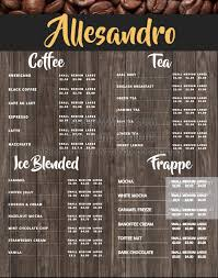 customizable menu templates customizable design templates for coffee menu postermywall