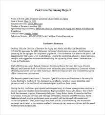 conference summary report template event recap template project recap template project management