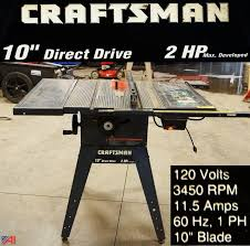 craftsman 10 portable table saw auctions international auction business liquidation 5196 item