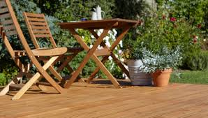 Garden Decking Ideas Uk How To Build A Basic Ground Level Deck Ideas Advice Diy At B Q