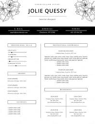 fashion resume templates jmckell