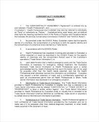 confidentiality agreement form u2013 8 free word pdf documents