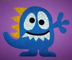 fabric applique pdf template pattern spike the monster baby