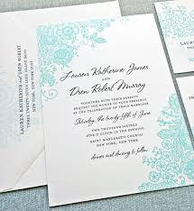 teal wedding invitations teal lace wedding invitation sle custom wedding