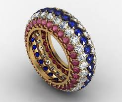 blue rings white images Buy a custom patriotic red white and blue ruby diamond and jpg