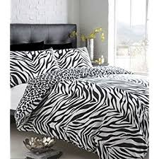 Single Duvet Covers And Matching Curtains Black U0026 White Zebra Print Double Duvet Set With Matching Curtains