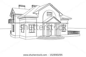 house drawings line drawing house stock images royalty free images vectors