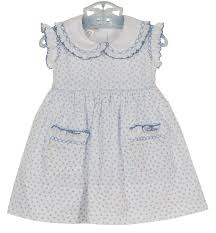 marco lizzy blue hearts smocked dress baby blue hearts