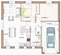plan maison 2 chambres plain pied plan maison plain pied 2 chambres inspirant plan maison avec jardin