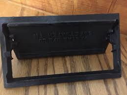 fireplace cast iron black ash clean out door 9