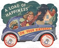 driving car 8th birthday greeting card bagged with
