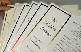 printing wedding programs new easy to print foil frame trifold programs