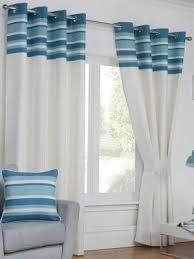 White And Teal Curtains Wholesale Eyelet Curtains Ready Made Homefords