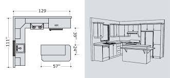 plans de cuisines plan cuisine en i avec ilot idée de modèle de cuisine