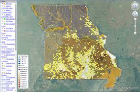 kentucky geologic map information service interactive map of missouri s geology and resources