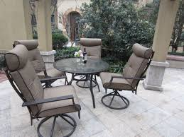 Swivel Patio Dining Chairs by Pebble Lane Living 5 Piece Patio Dining Set Review Best Patio