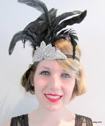 1920s hair accessories flapper headband great gatsby 1920s wrap gatsby