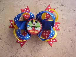 mickey mouse hair bow mickey mouse inspired hair bow on luulla
