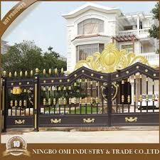 small aluminum gate modern main gate designs new design cast iron