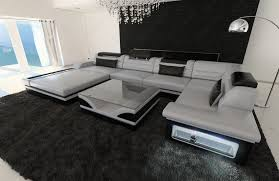 wohnzimmer couch xxl xxl sofa u form design sectional sofa matera xxl with led lights