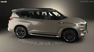 infiniti minivan 360 view of infiniti qx80 monograph 2017 3d model hum3d store