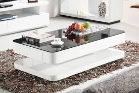 white gloss side table courbe 1m white gloss coffee table black glass drawer