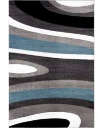 Contemporary Modern Area Rugs Deal Alert Osti Abstract Contemporary Modern Blue Polypropylene