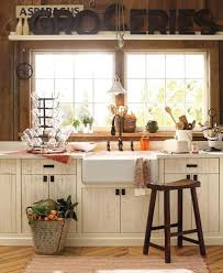 inspiration kitchen design with wide and open windows