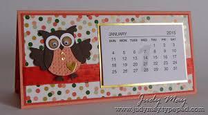 Small Desk Calendar 2015 Just Judy Designs Mini Calendar Projects