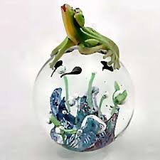 frog store glass statues frog figurines and frog waterglobes