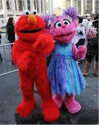 sesame street red elmo mascot costumes long fur red monster