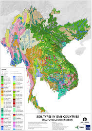 Map Types Icem Soil Types In Gms Countries U2013 Fao Unesco Classification