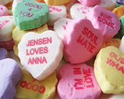 sweethearts candy personalized print you choose names for