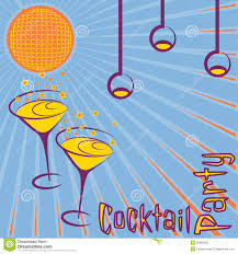 image gallery of vintage cocktail party clipart