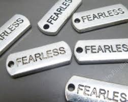 inspirational charms fearless charm etsy