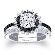 black bridal sets barkev s black diamond halo bridal set 7969sbkw