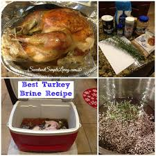 how brine a turkey best turkey brine recipe sweet and simple living