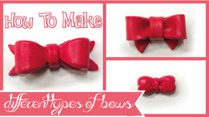 ribbons and bows how to make different types of bows ribbons polymer clay tutorial