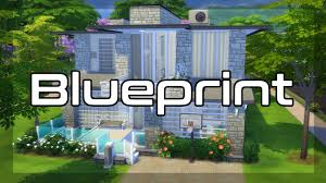 the sims 4 blueprint modern home speed build youtube